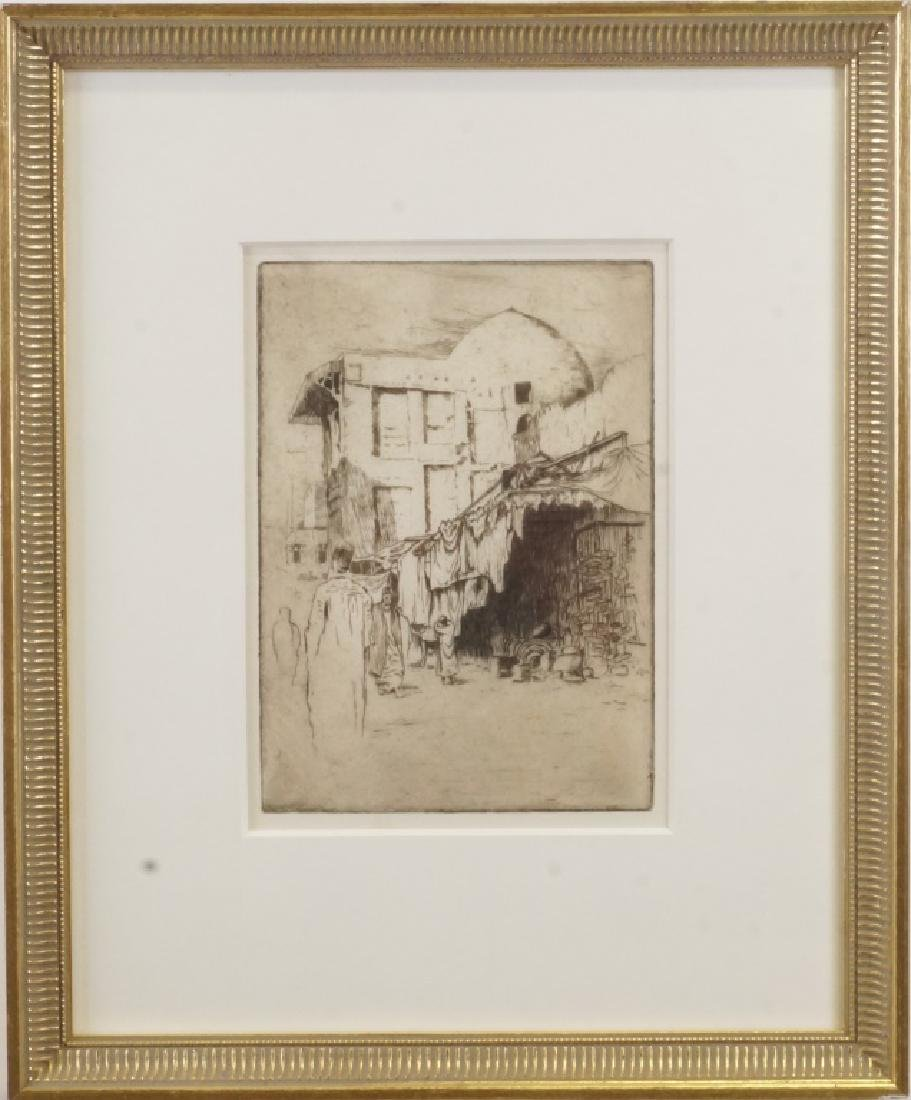 "BERTHA JACQUES ""IN THE MOWSKY - CAIRO"" ETCHING - 2"
