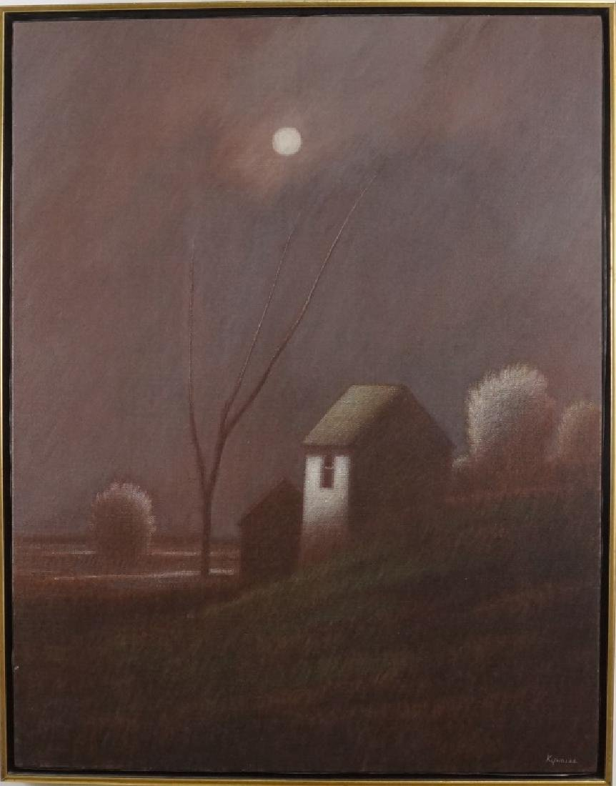 "ROBERT KIPNISS ""MOONRISE"" OIL ON CANVAS, 1981"
