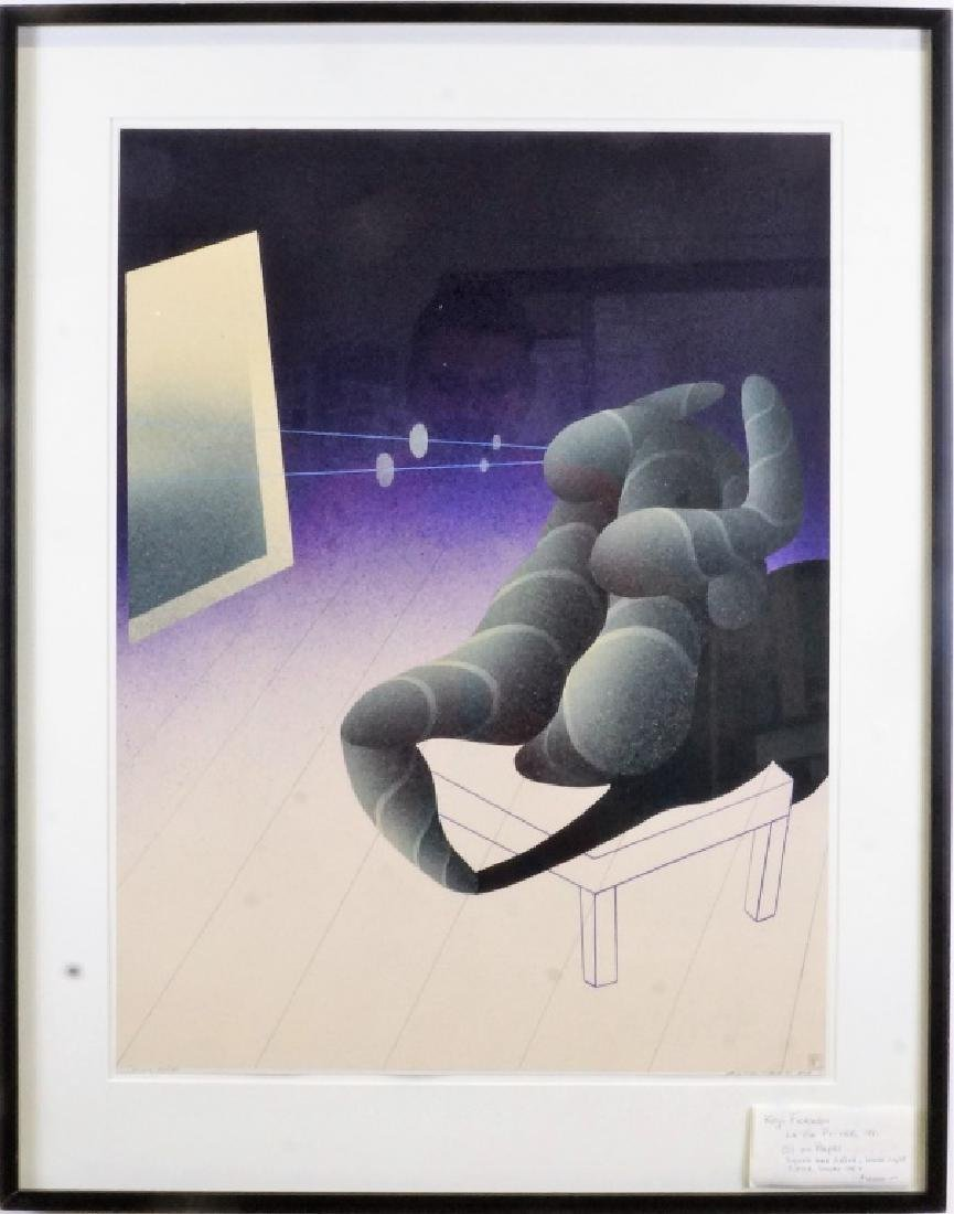 "KUJI FURUDOI ""LA VIE PRIVA"" OIL PAINTING, 1981 - 2"