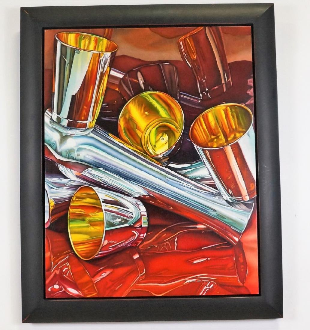 """JEANETTE PASIN SLOAN """"BALANCING ACT"""" OIL PAINTING - 2"""