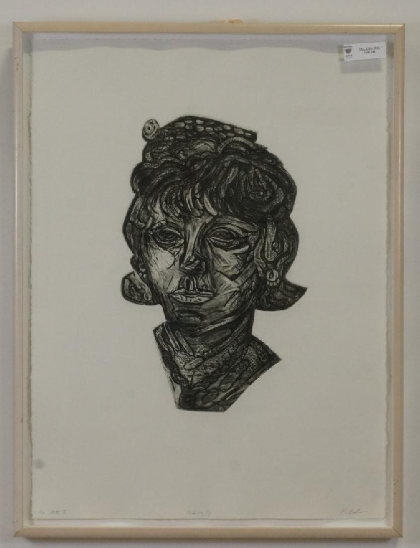 "KARIN BROKER ""MAKEUP I"" ETCHING #2/10, 1994"
