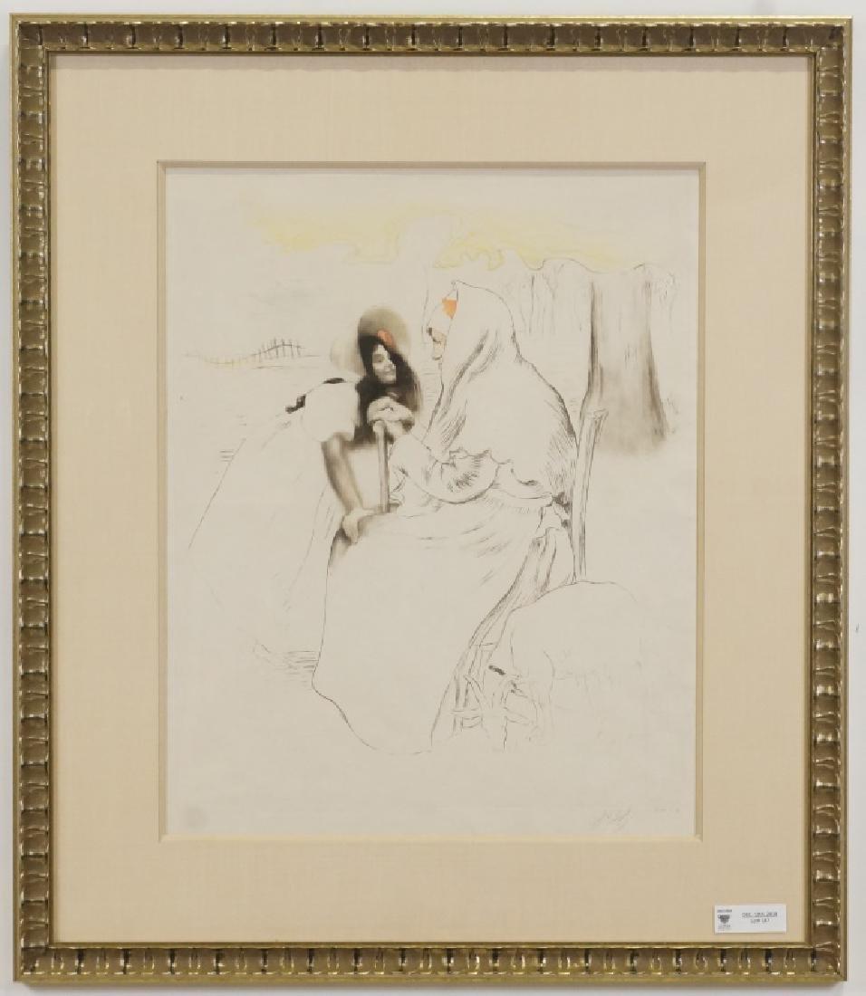 "LOUIS LEGRANDE ""L'AIEULE-THE GRANDMOTHER"" ETCHING"