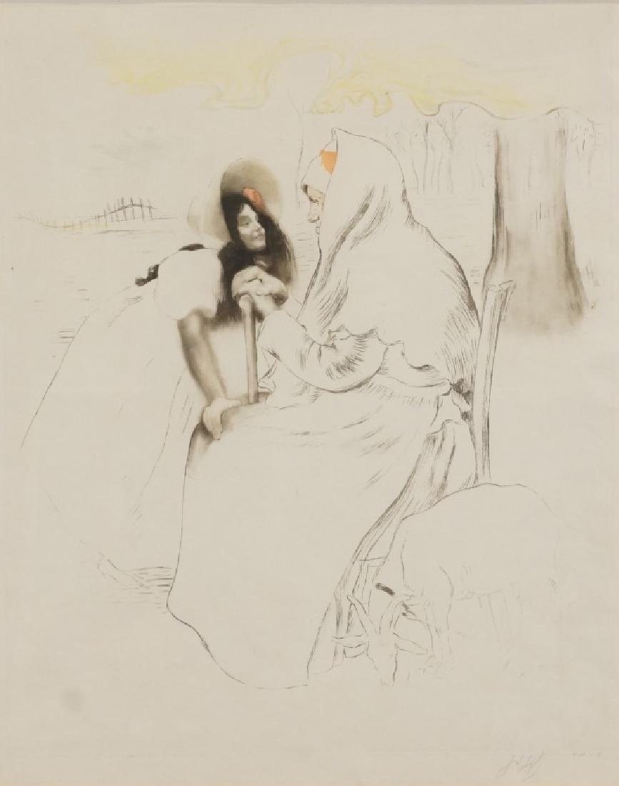 "LOUIS LEGRANDE ""L'AIEULE-THE GRANDMOTHER"" ETCHING - 2"