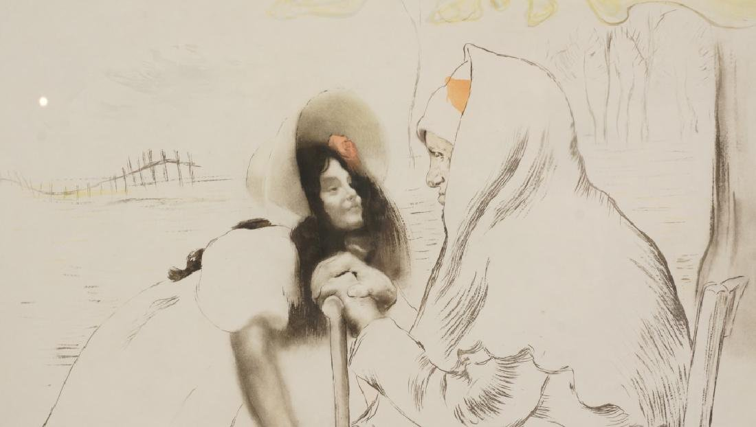 "LOUIS LEGRANDE ""L'AIEULE-THE GRANDMOTHER"" ETCHING - 3"