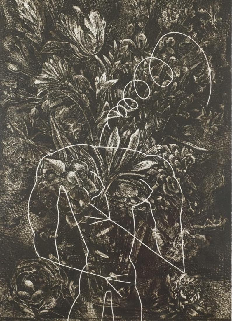 "KARIN BROKER ""TROUBLE IN PARADISE"" ETCHING"
