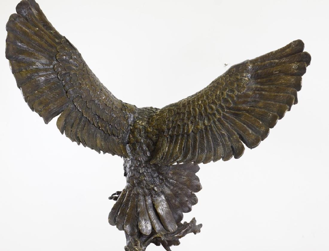 BRONZE OWL SCULPTURE - 5