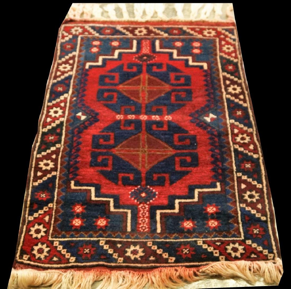 HAND KNOTTED PERSIAN HERIZ RUG