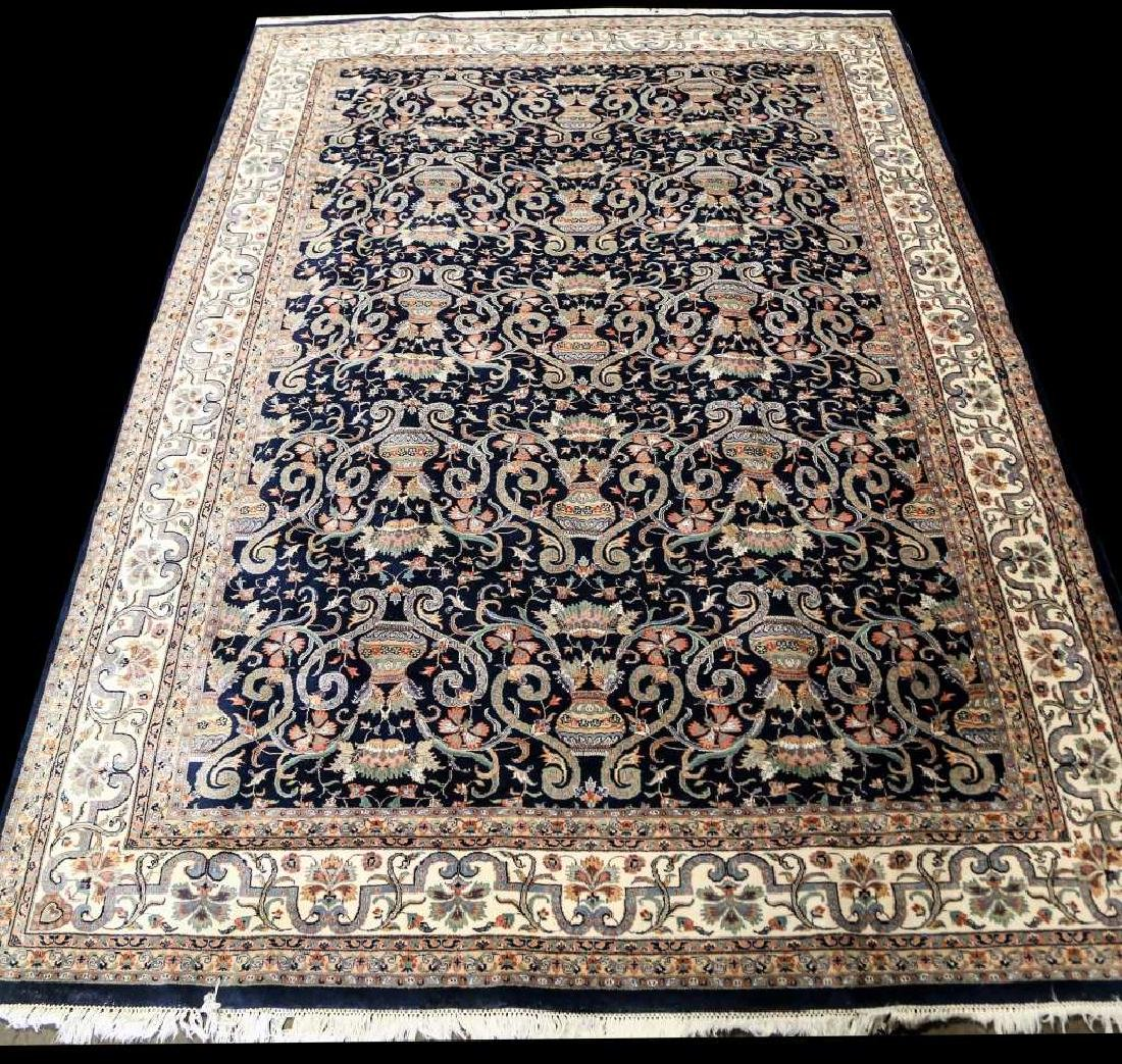 HAND KNOTTED PERSIAN QUM RUG