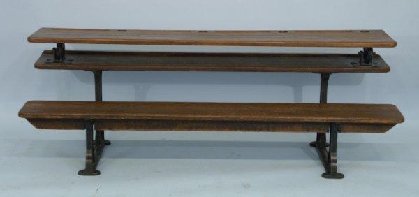 2: A vintage 4-person school desk