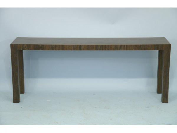 "15: Sofa/console table.  Size: 64"" x 25"" x 14""."