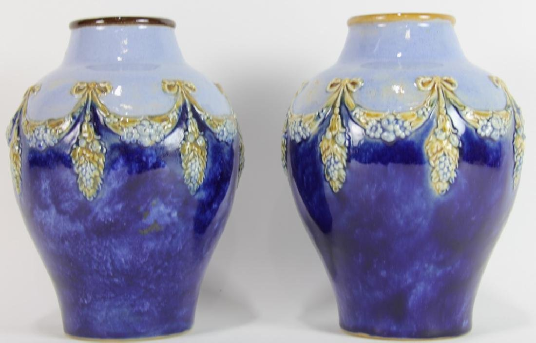 PAIR OF 19th CENTURY ROYAL  DOULTON VASES