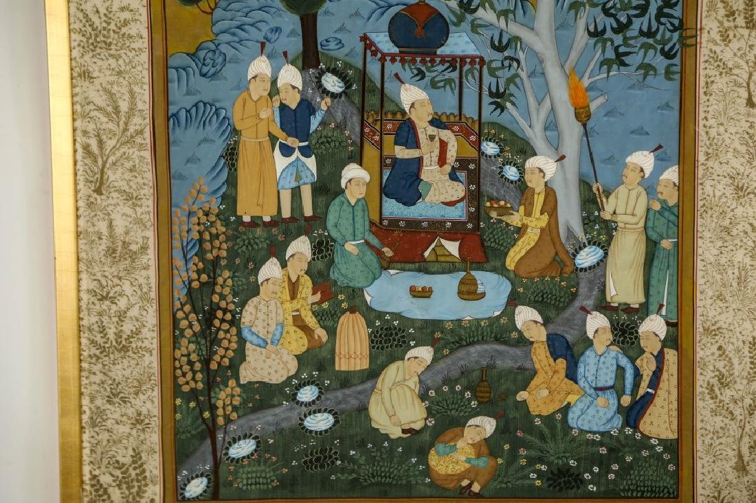 INDIAN MUGHAL PAINTING ON SILK - 2