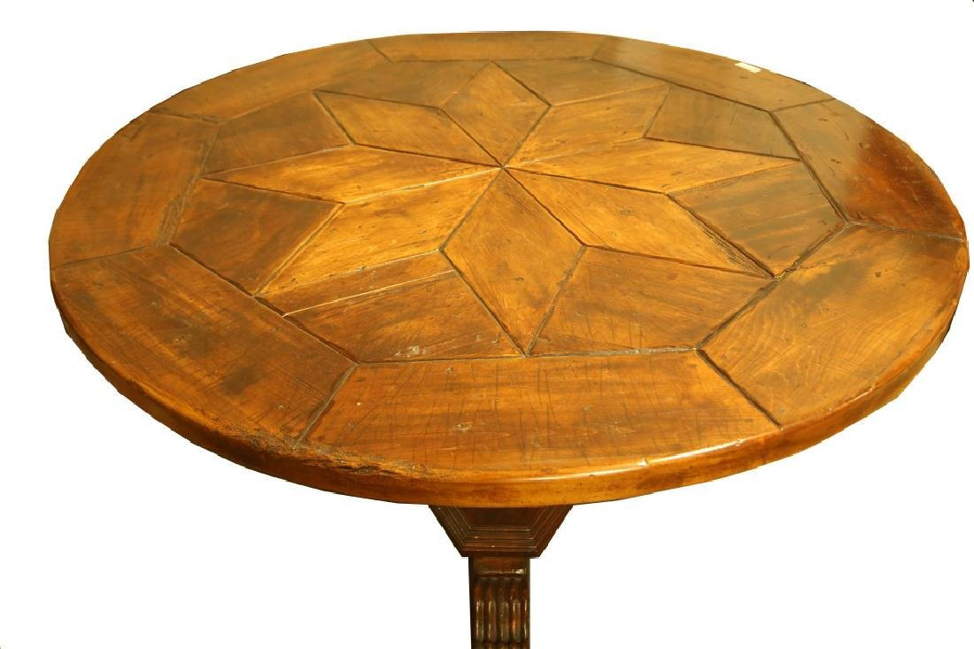 FRENCH STYLE PARQUET TOP DINING TABLE