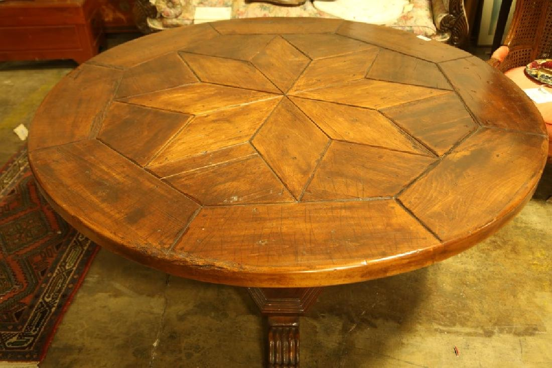 FRENCH STYLE PARQUET TOP DINING TABLE - 2