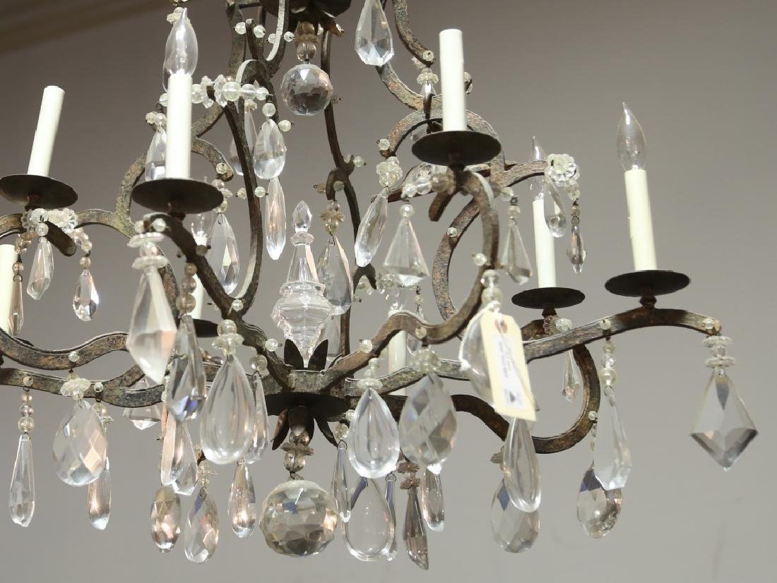 IRON AND CRYSTAL EIGHT-LIGHT CHANDELIER - 2