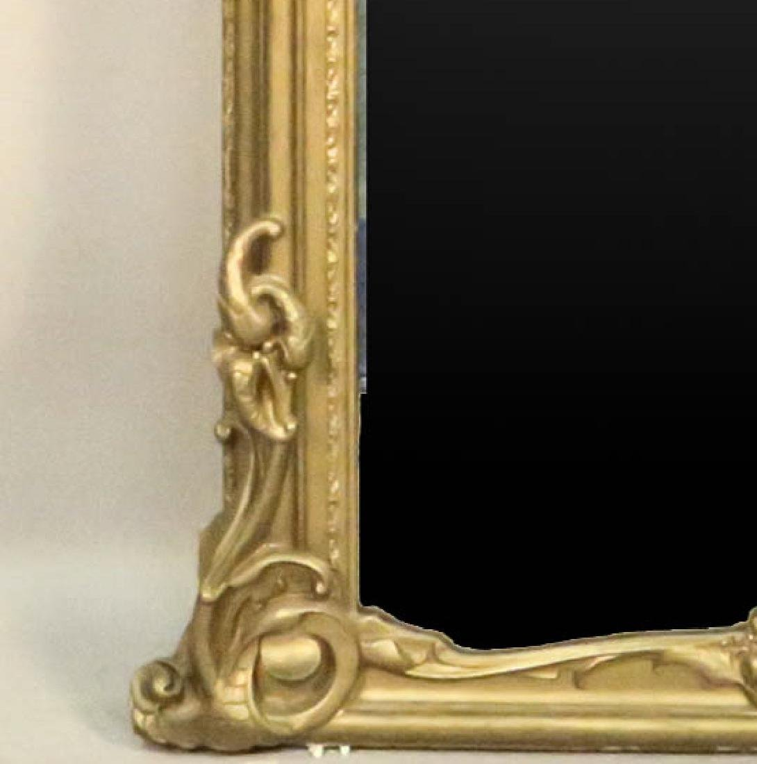 CIRCA 1850's FRENCH CARVED & GILDED PIER MIRROR - 3