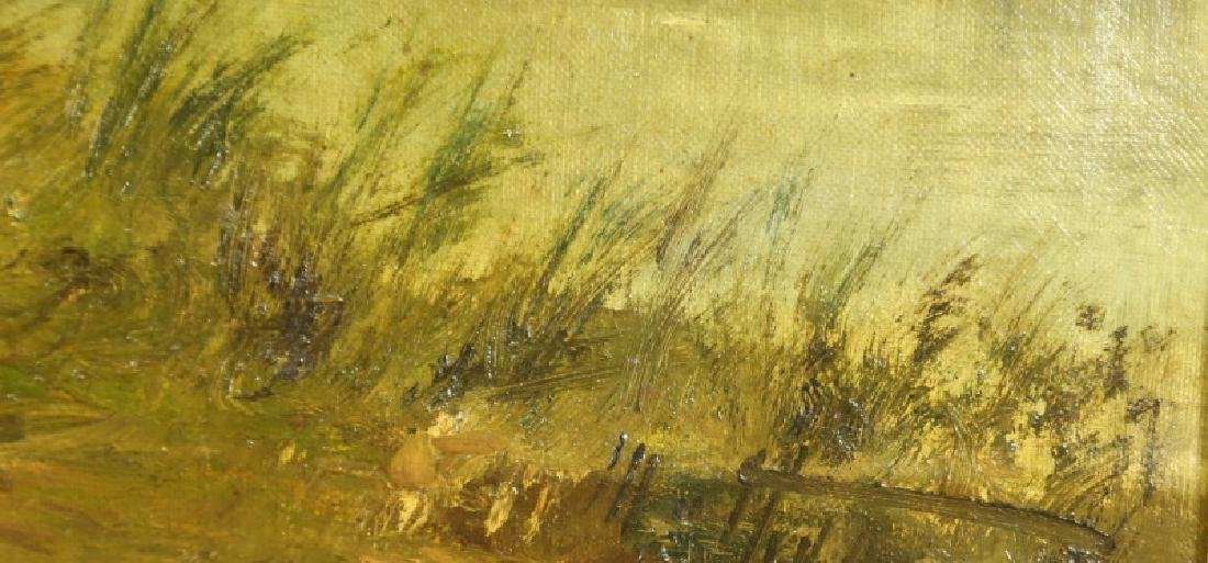 19th CENTURY FRENCH IMPRESSIONIST LANDSCAPE OIL - 3