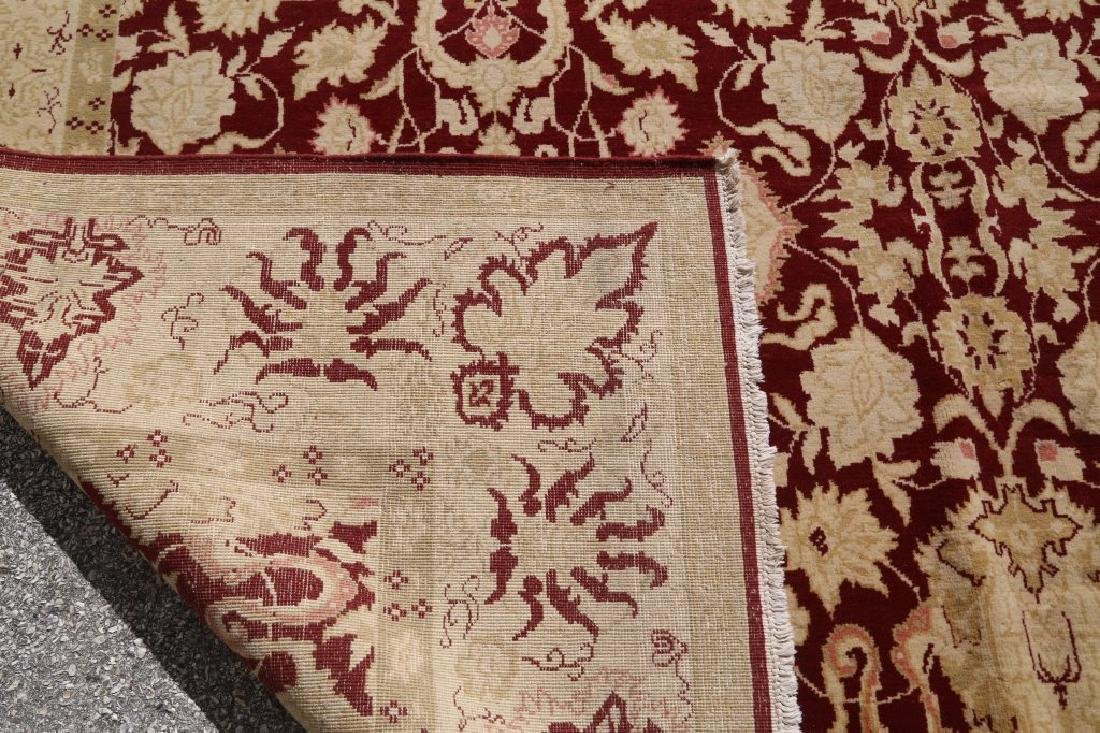 HAND KNOTTED PERSIAN MASHAD RUG - 5