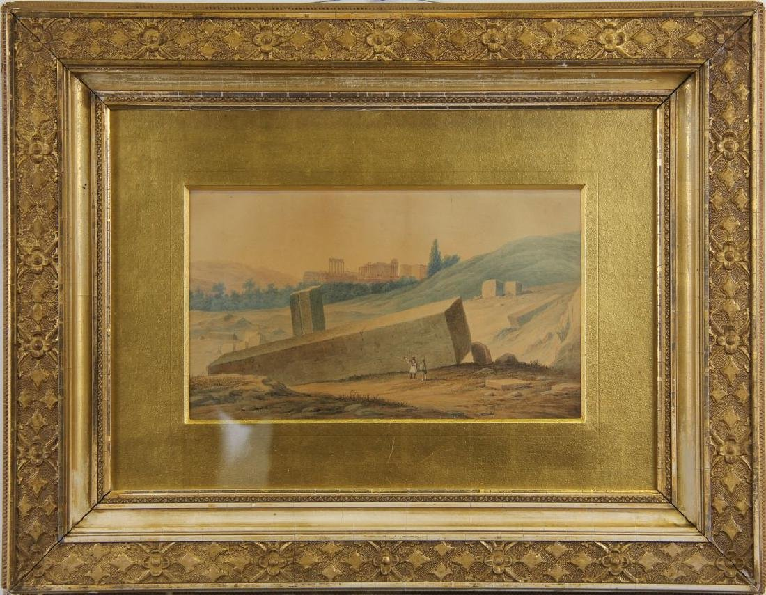 LANDSCAPE WATERCOLOR PAINTING IN GILDED FRAME - 2