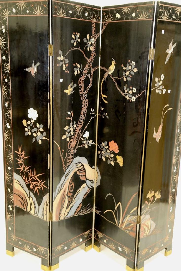 FOUR PANEL CHINESE SCREEN - 3