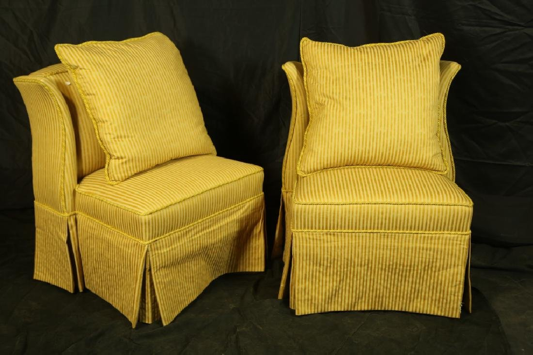 PAIR OF WINGED SLIPPER CHAIRS