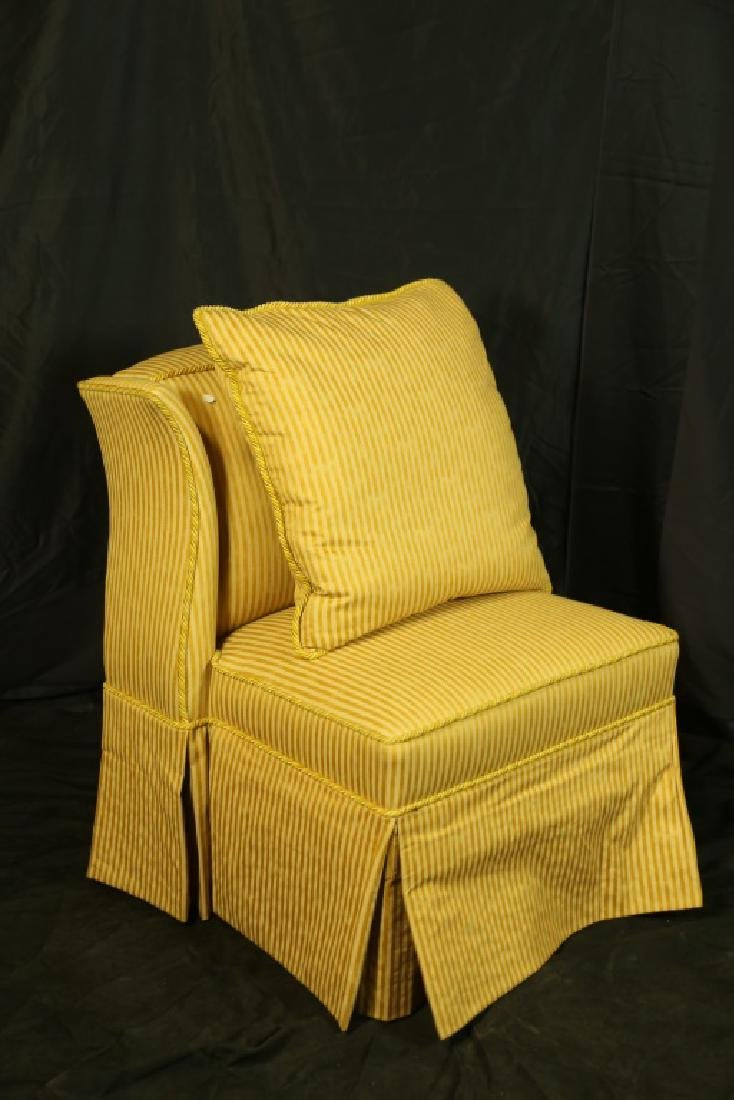 PAIR OF WINGED SLIPPER CHAIRS - 2