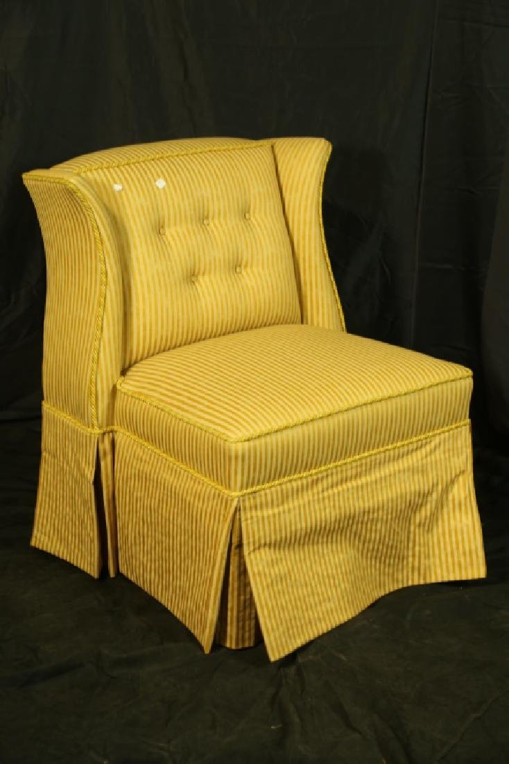 PAIR OF WINGED SLIPPER CHAIRS - 3