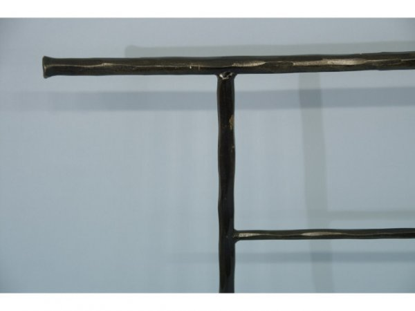 21: Wrought iron quilt rack. - 2