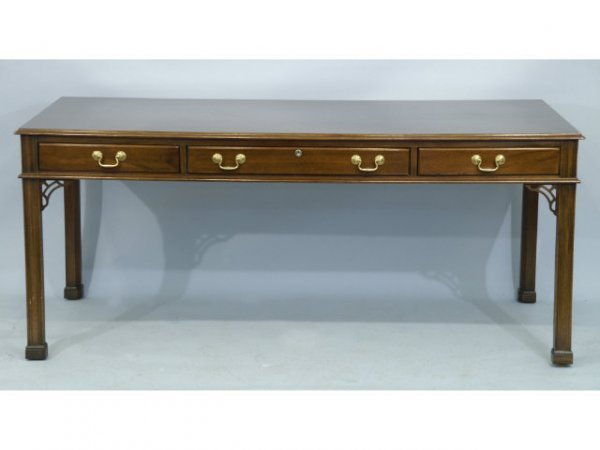 40A: Stickley writing table with 3 drawers.
