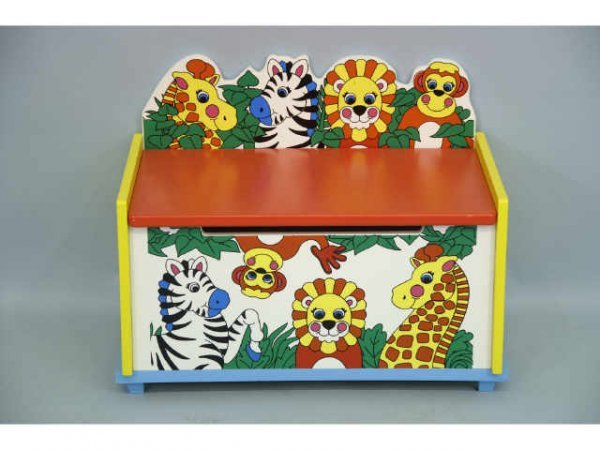 222: Jungle themed toy box.