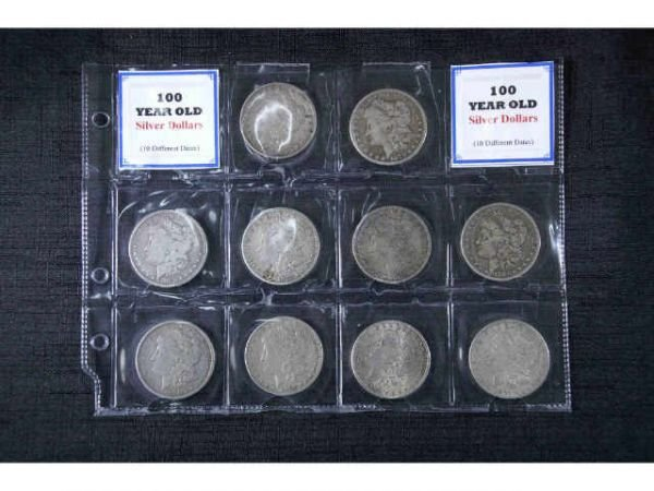 6: 10 Silver dollars, 1878 - 1891. Average  circulation