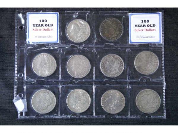 6A: 10 Morgan Head Silver Dollars in various  condition