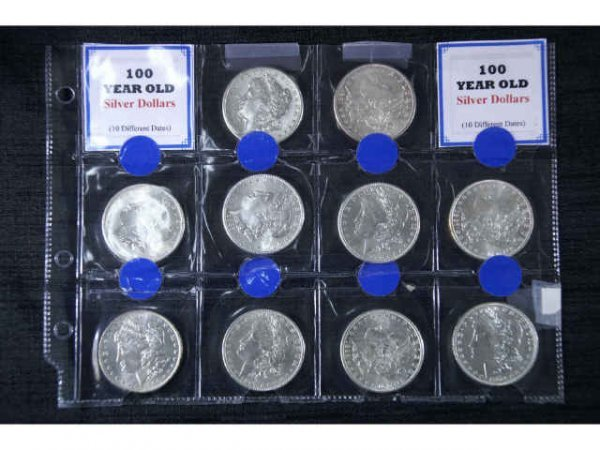 7B: 10 various Morgan Head silver dollars. 1878, 1881,