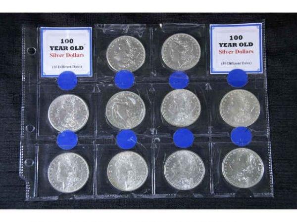 7C: 10 Morgan Head silver dollars in various  condition