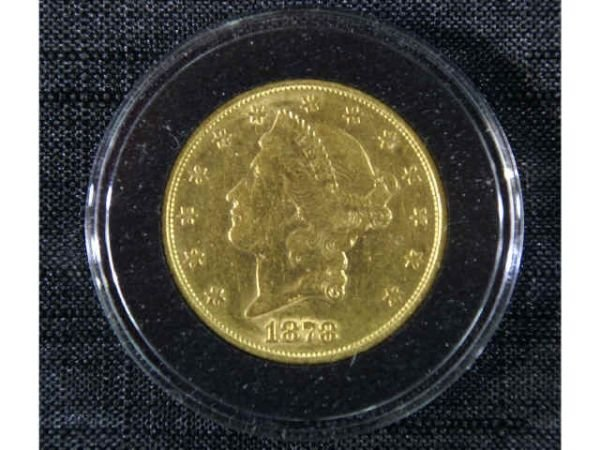 13B: 1878-S $20 Liberty gold coin