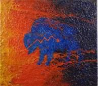 EARL STALEY BUFFALO FETISH OIL ON CANVAS 1996