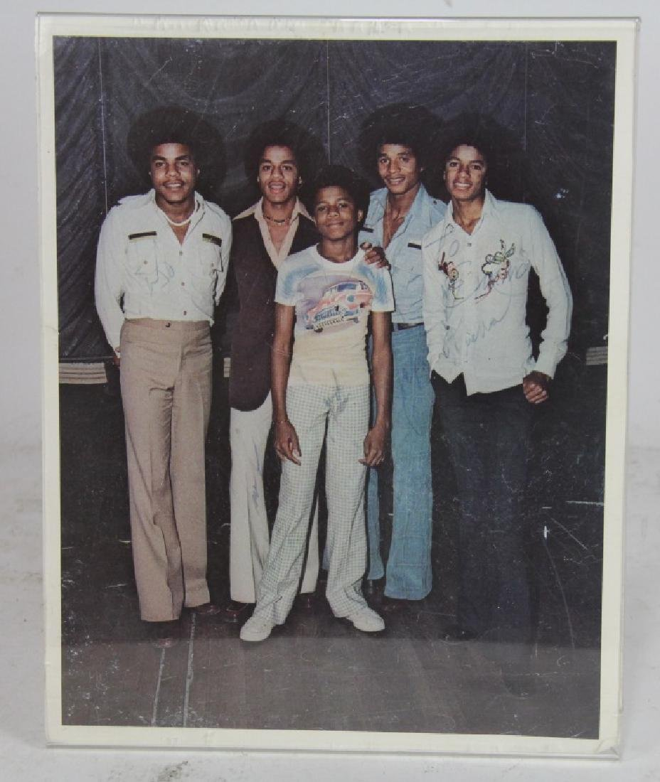 JACKSON 5 PHOTOGRAPH ALL SIGNED