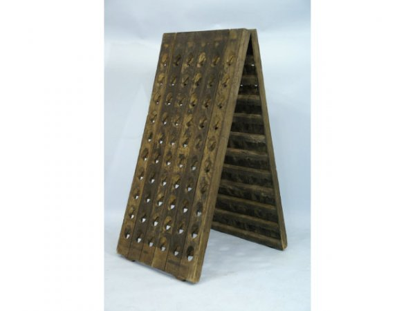 1007: 19th Century champagne aging rack
