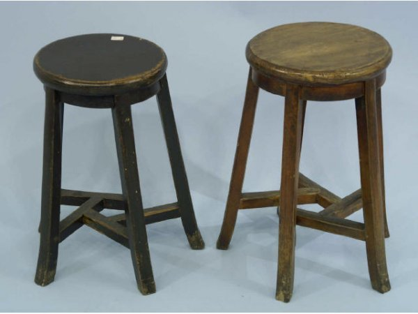 1014: Pair of antique Chinese stools.