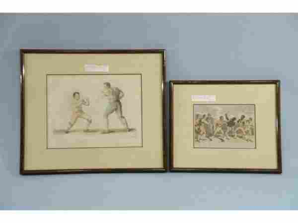 Antique Engravings of Boxers