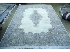 1194 Hand knotted semiantique Persian kerman rug