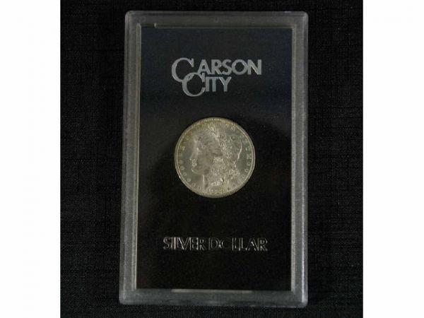 1026: 1882 Silver Dollar, Carson City. Condition: BU 63
