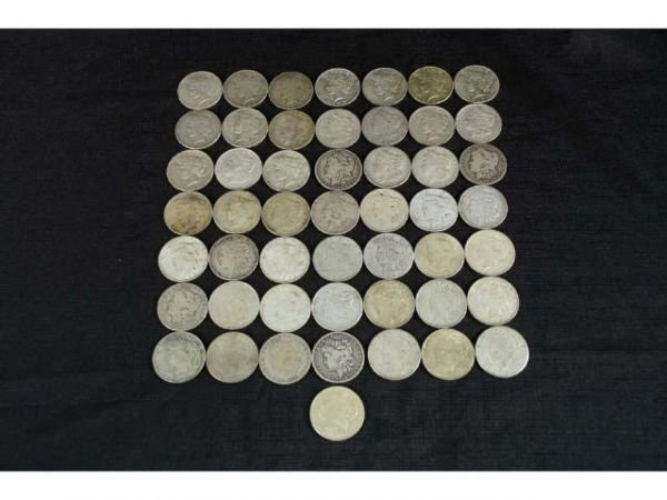 1010A: 50 pieces of silver dollars. Mixed set includes