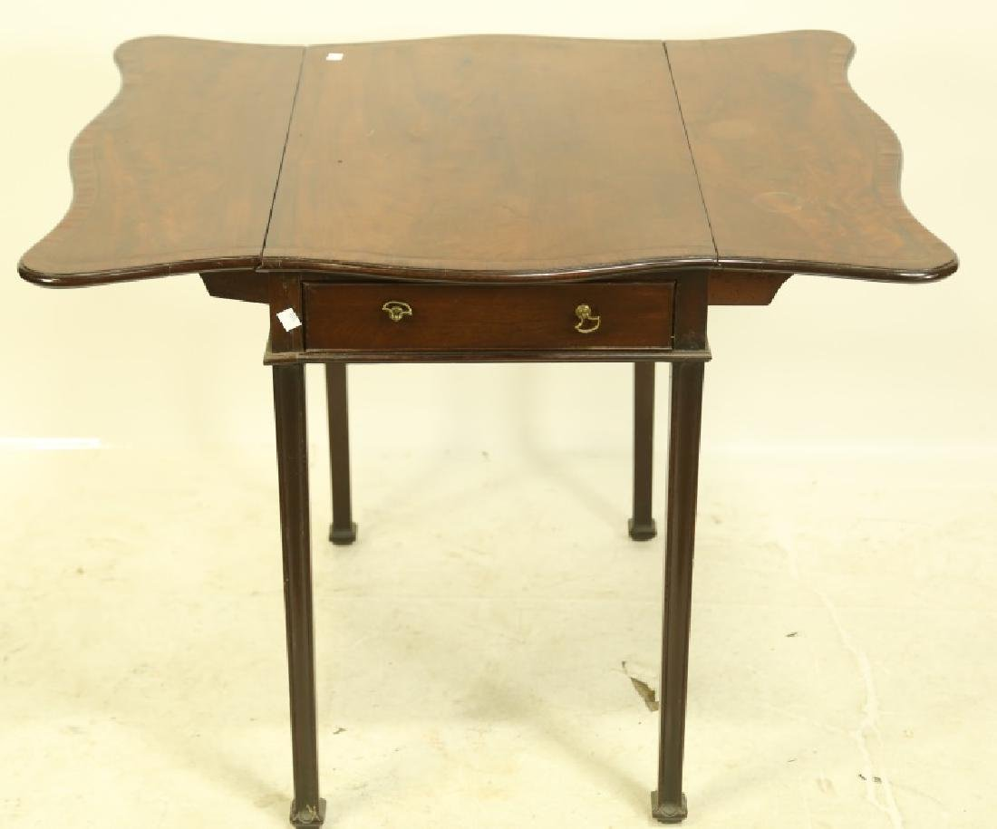 CIRCA 1840's MAHOGANY GEORGIAN PEMBROKE TABLE