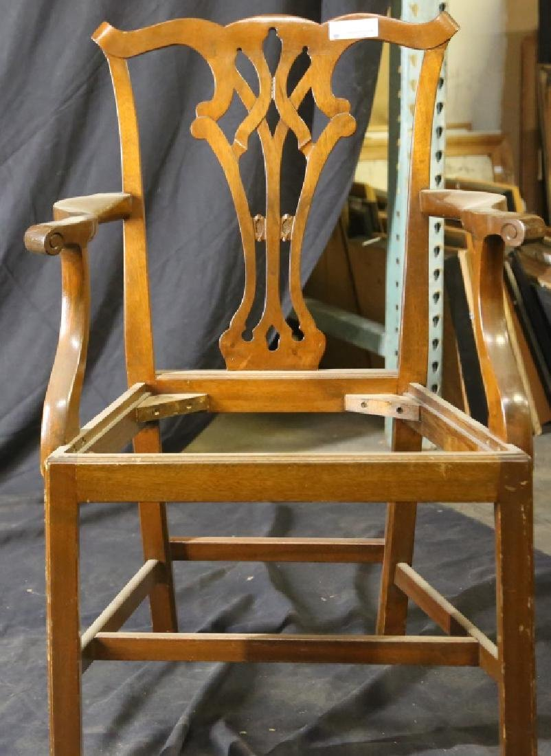 CHIPPENDAIL STYLE ANTIQUE ARM CHAIR