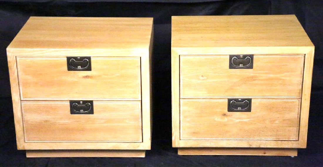 PAIR OF HENREDON BEL AIR NIGHTSTANDS
