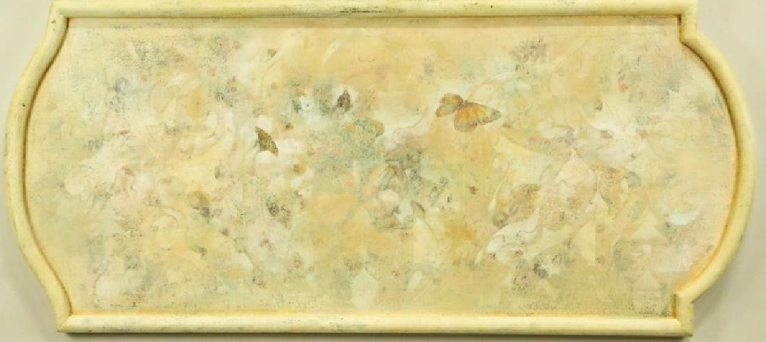 BUTTERFLY OIL ON PANEL PAINTING
