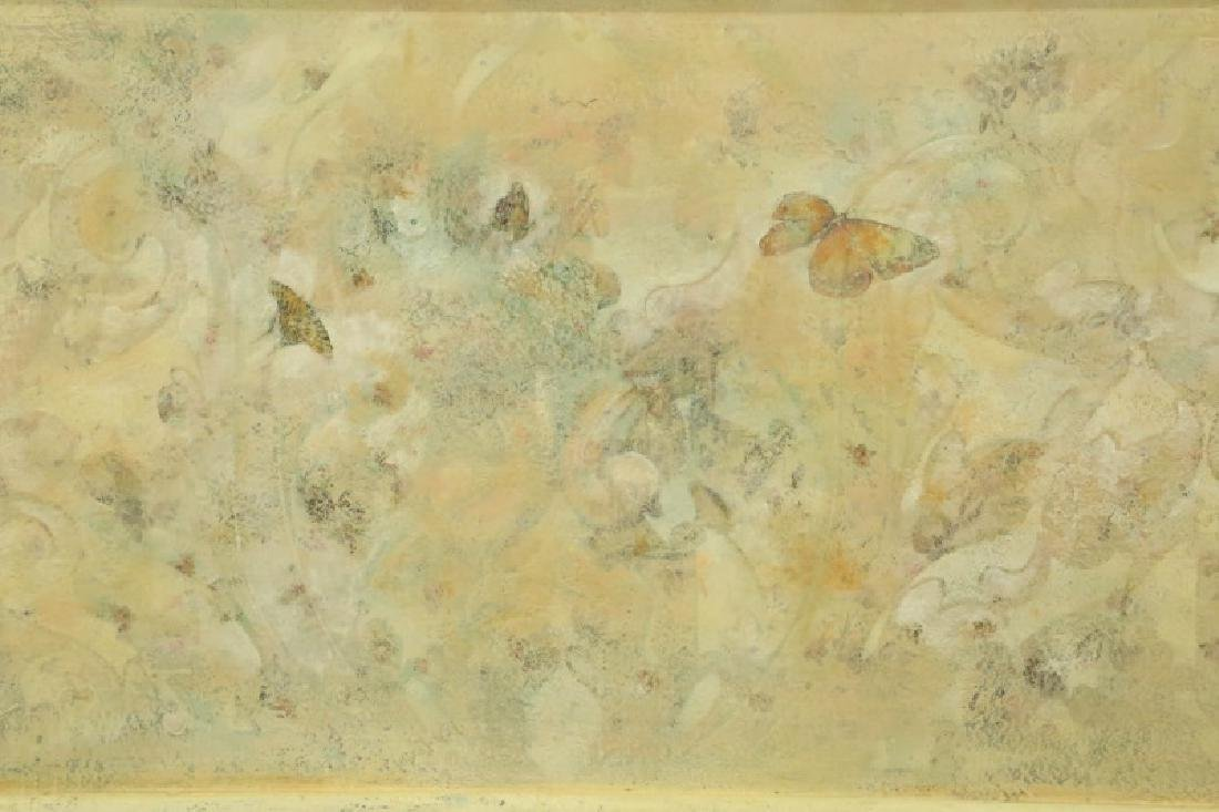 BUTTERFLY OIL ON PANEL PAINTING - 2