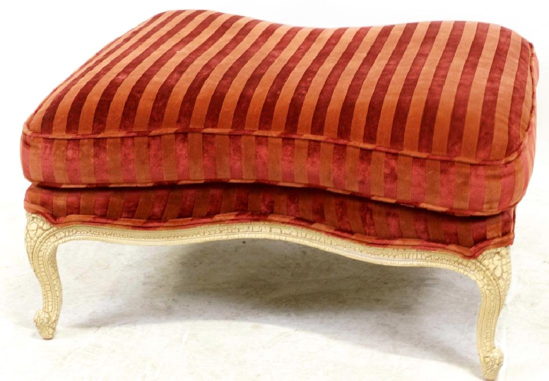 FRENCH STYLE UPHOLSTERED OTTOMAN