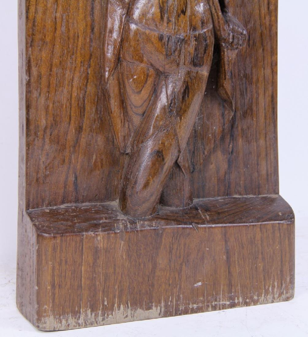 WOOD CARVED FEMALE NUDE SCULPTURE - 3